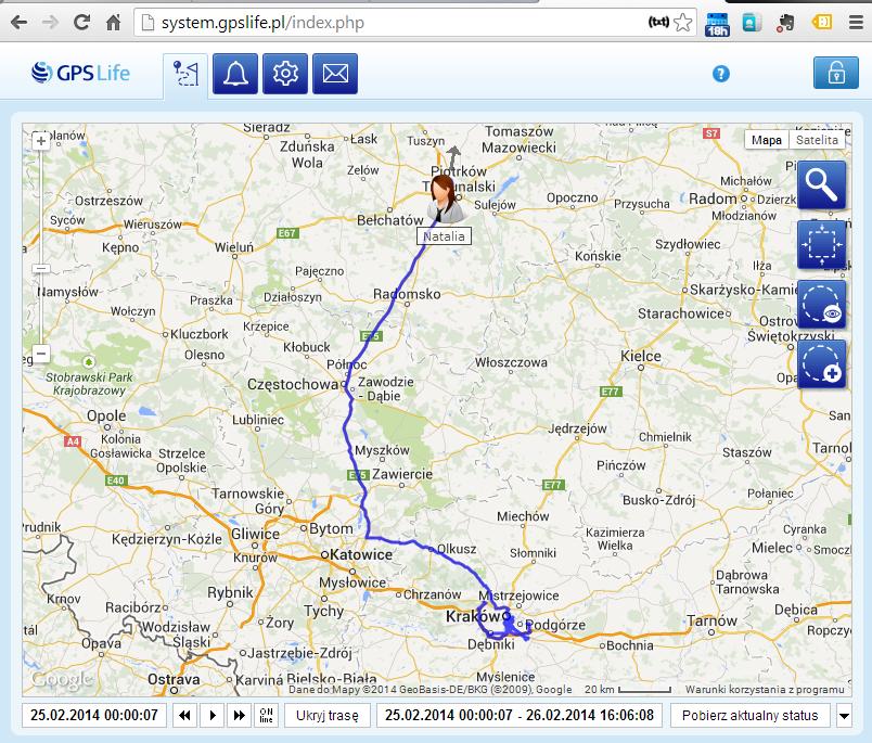 Monitoring GPS osób i pojazdów w Krakowie