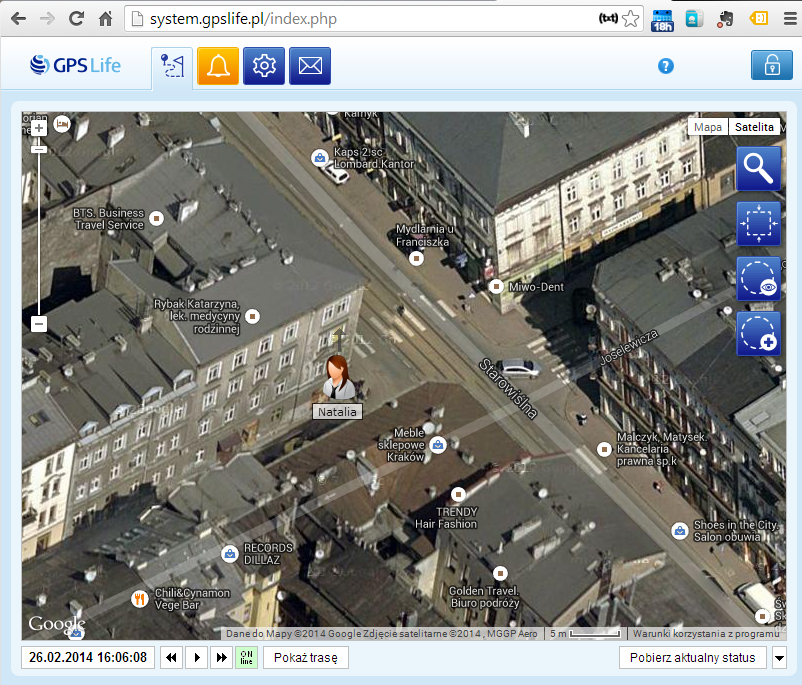 Monitoring GPS - Lokalizator personalny